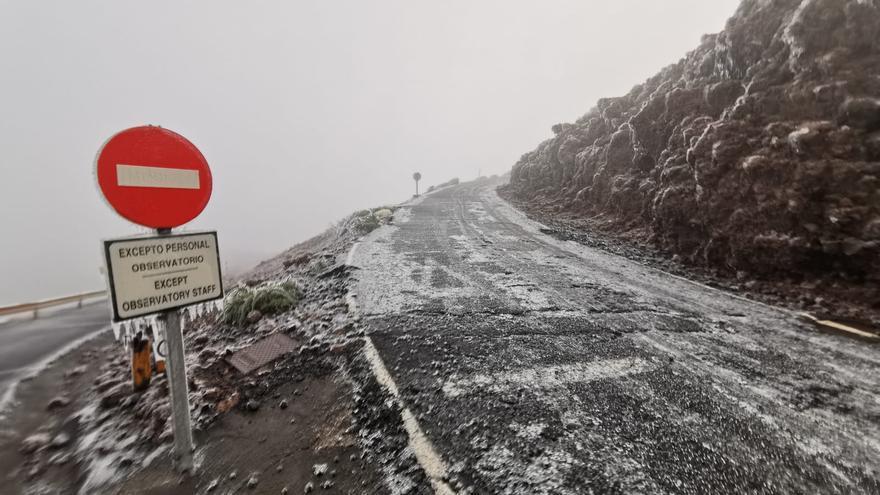 Paisaje siberiano en La Palma  este viernes