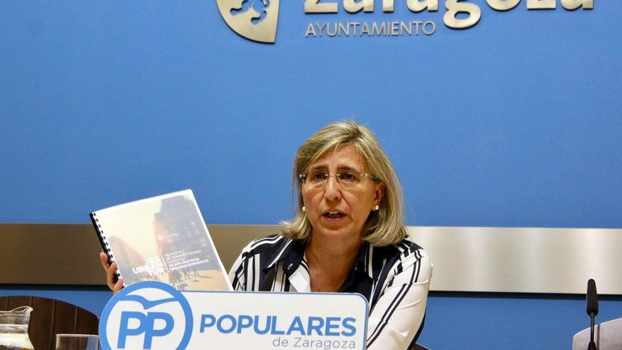 La concejala del PP en el Ayuntamiento de Zaragoza, María Jesús Martínez.