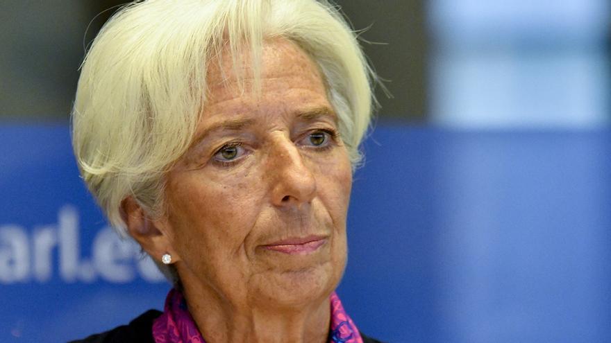 Christine Lagarde, en el Parlamento Europeo.