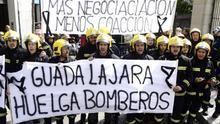 Bomberos llegan hasta el Congreso para defender la seguridad ciudadana en Guadalajara