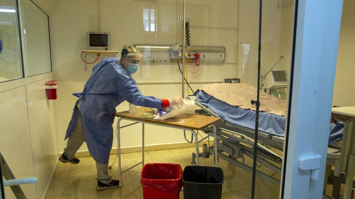 La baja de casos alivió al personal de salud en las provincias