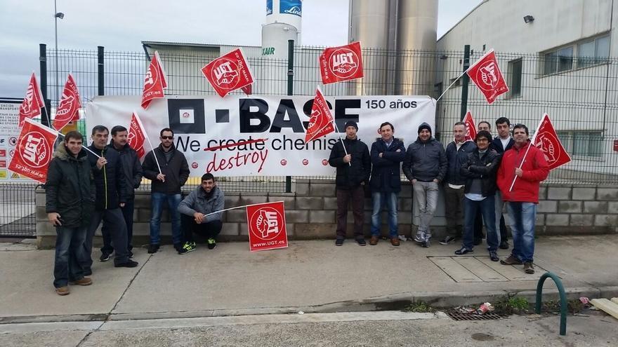 """Los trabajadores de Basf Tudela inician una huelga indefinida para demandar """"garantías de futuro"""""""