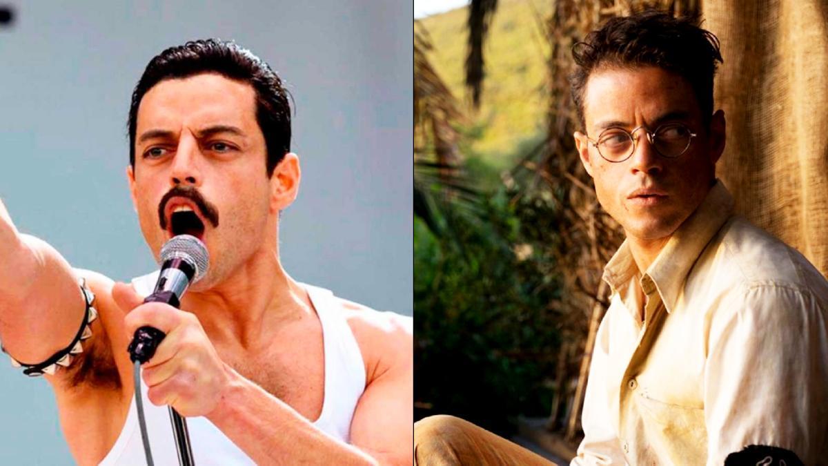 Rami Malek en 'Bohemian Rhapsody' y 'Papillon'