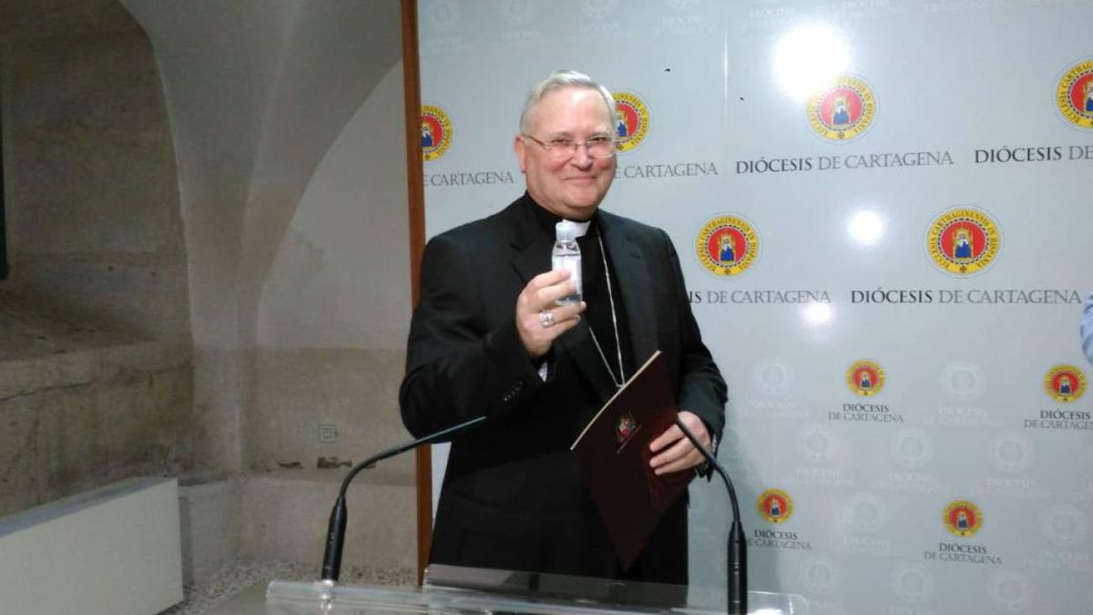 El obispo de Cartagena-Murcia, José Manuel Lorca Planes
