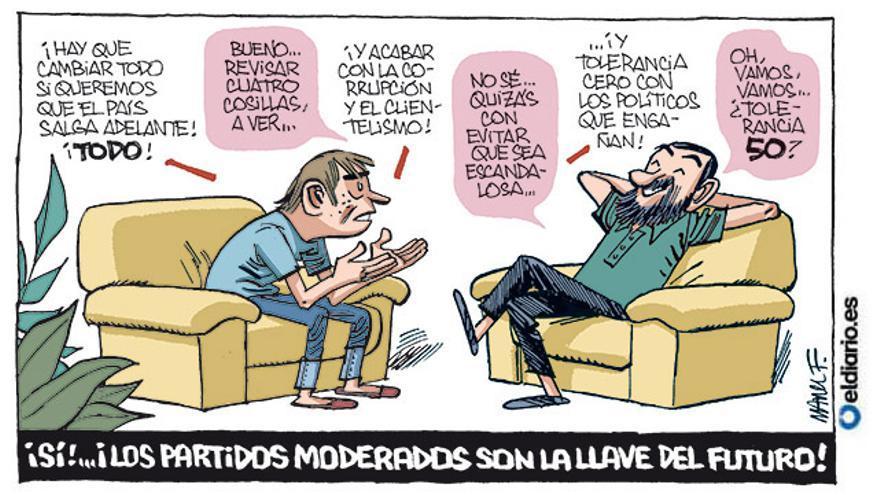 Los moderados