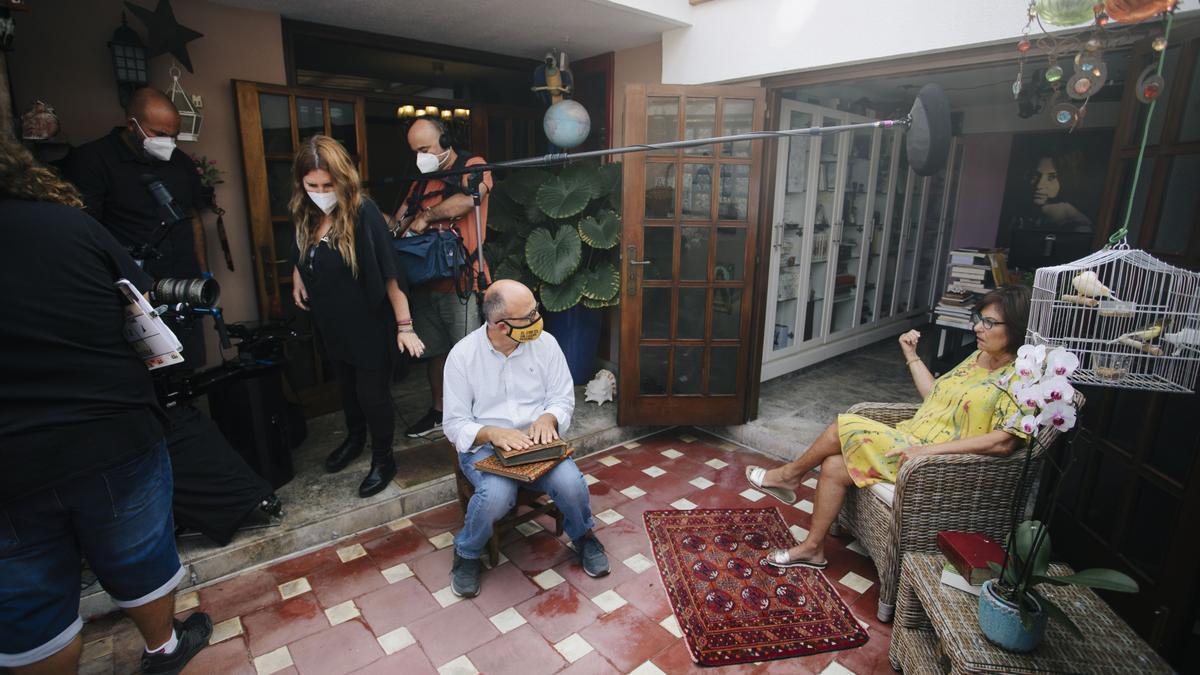Rodaje de 'Benito Pérez Buñuel', del director Luis Roca Arencibia, en Las Palmas de Gran Canaria.
