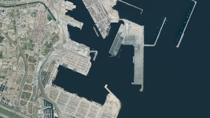 El puerto en la actualidad en una imagen del Instituto Cartográfico Valenciano