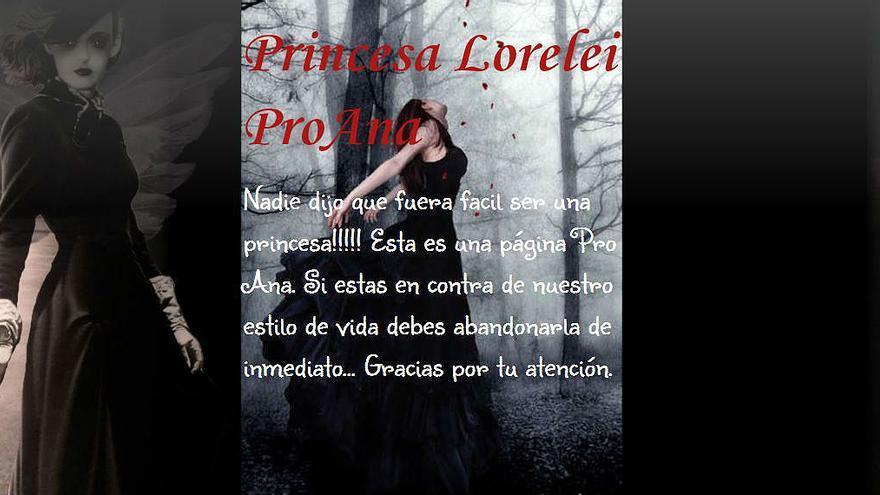 La web Pro-Ana, donde distintas blogueras ofrecen asesoramiento para adelgazar y llegar a ser 'princesas' (Foto: Pro-Ana)