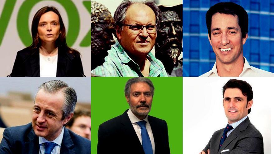 Los 6 de Vox: Georgina Trías, Pedro Requejo, Victor González, Pablo Sáez, Pablo Calvo y Rodrigo Jiménez