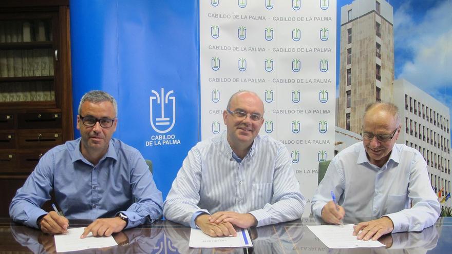 Sergio Matos (i), Anselmo Pestana y Mauro Fernández.