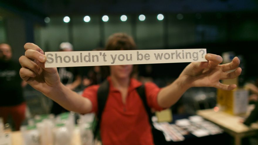 Con esta etiqueta, podrás sentirte obligado a trabajar aunque no estés delante del ordenador