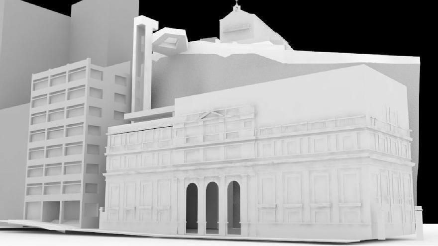 Imagen de la maqueta del anteproyecto del futuro ascensor ubano de la capital.