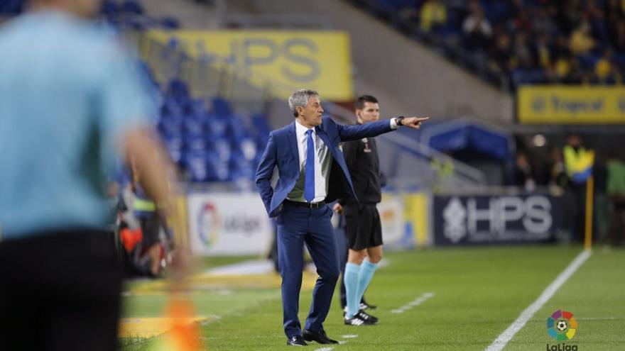 Setién durante el encuentro entre la UD Las Palmas y el Villarreal.