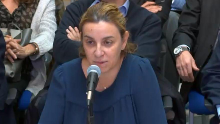 La exdirectora de Gestión de la Ciudad de las Artes y las Ciencias (Cacsa), Elisa Maldonado, durante el juicio en la Audiencia de Palma
