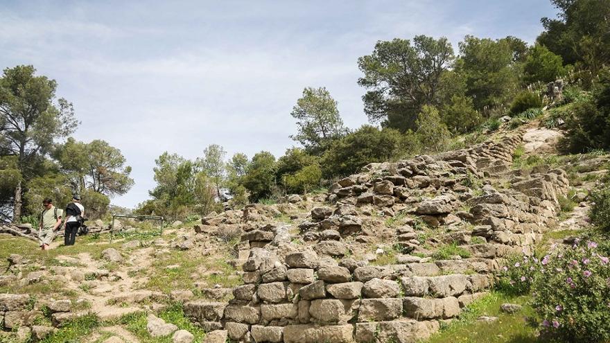 Imagen de la vieja fortaleza de Bobastro, en Ardales.