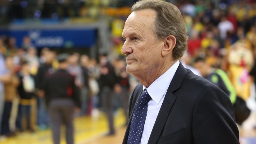 El entrenador del Herbalife Gran Canaria, Aíto García Reneses. (Alejandro Ramos).