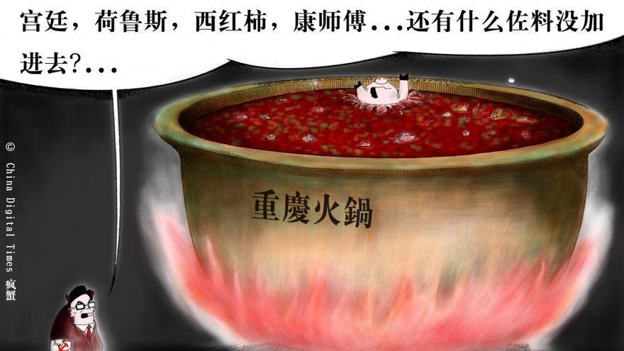 """Potaje Chongqing"". Hexie Farm para China Digital Times. 12 de abril de 2012"