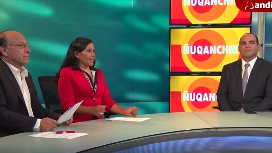 Captura de pantalla del programa Ñuqanchik // Foto: Andina Canal Online