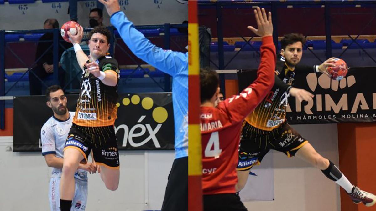 Los jugadores Jesús Melgar y Manu Díaz