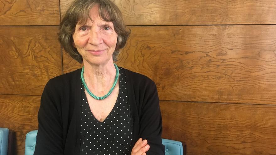Aleida Assman, en la Universidad Complutense de Madrid.