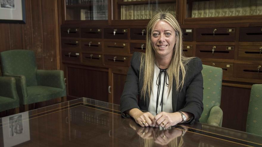 La senadora María de Haro.