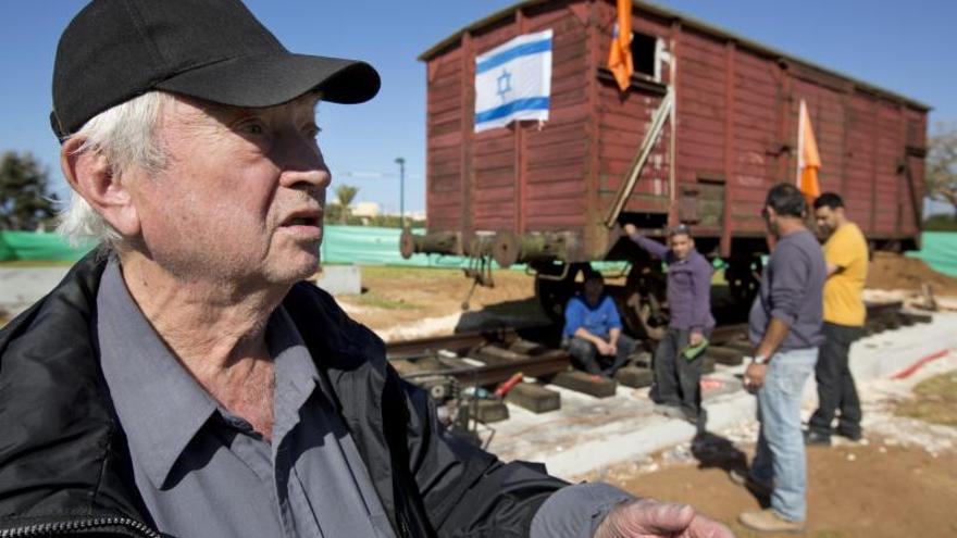 Netanya recuerda el Holocausto con el primer vagón nazi exhibido en Israel