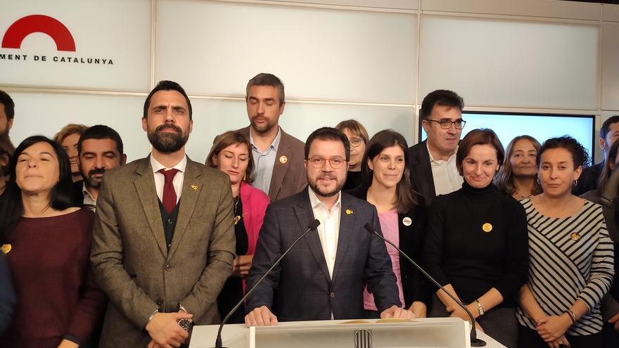 Aragonès avanza que ERC pedirá al TS la nulidad de la sentencia y la libertad de Junqueras