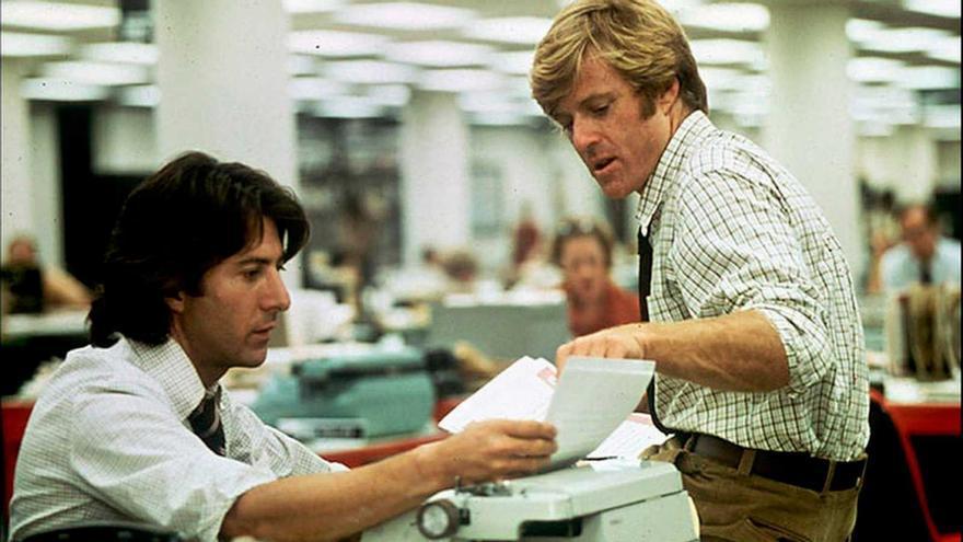 Robert Redford y Dustin Hoffman en 'Todos los hombres del presidente'
