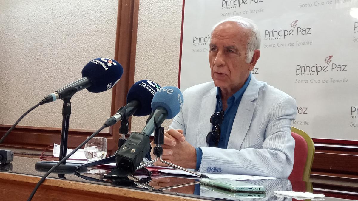 José Luis Langa González, presidente de la Plataforma Canaria de Afectados por la Ley de Costas.