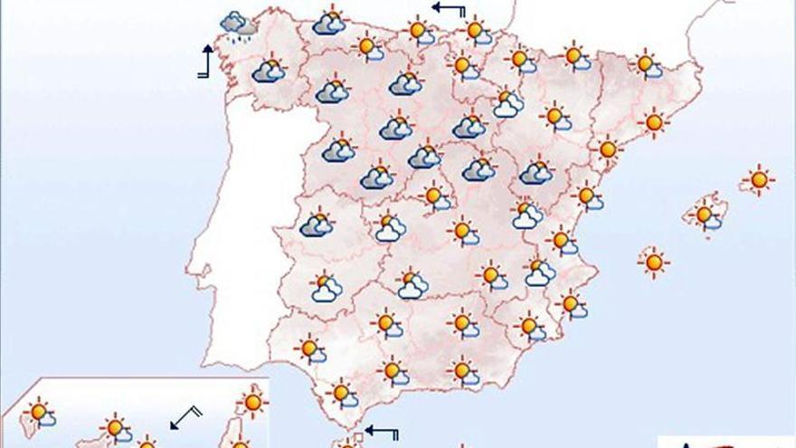 Mañana, ascenso ligero de las temperaturas, menos en el oeste de Galicia