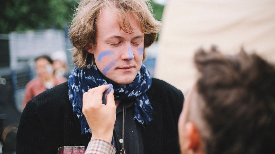 Nils Agger, activista y uno de los fundadores del movimiento Extinction Rebellion contra la crisis climática