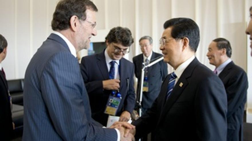 Hu Jintao Y Rajoy, En La Cumbre Del G-20