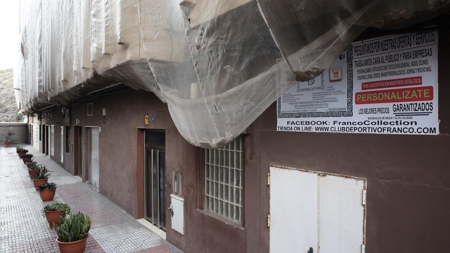 Desprendimientos en Las Palmas de Gran Canaria.