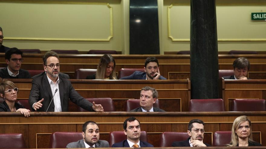 """El PDeCAT critica la actitud de Rufián en el Congreso: """"Se puede ser duro sin tener que faltar el respeto a nadie"""""""