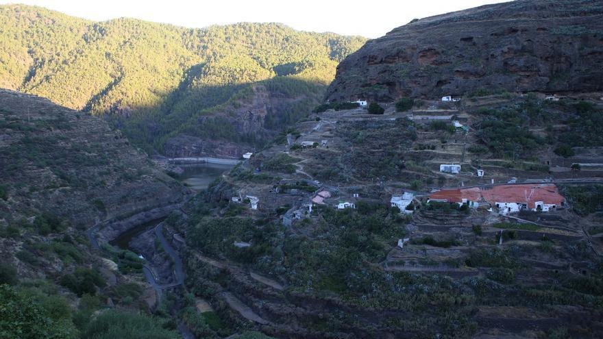 Presa de Los Pérez, en Barranco Hondo (ALEJANDRO RAMOS)
