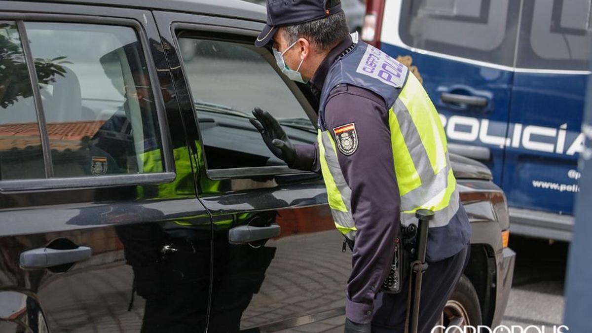 Control de la Policía Nacional.