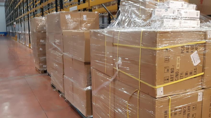 Cargamento de test rápidos para detectar el coronavirus enviado a Euskadi por el Ministerio de Sanidad