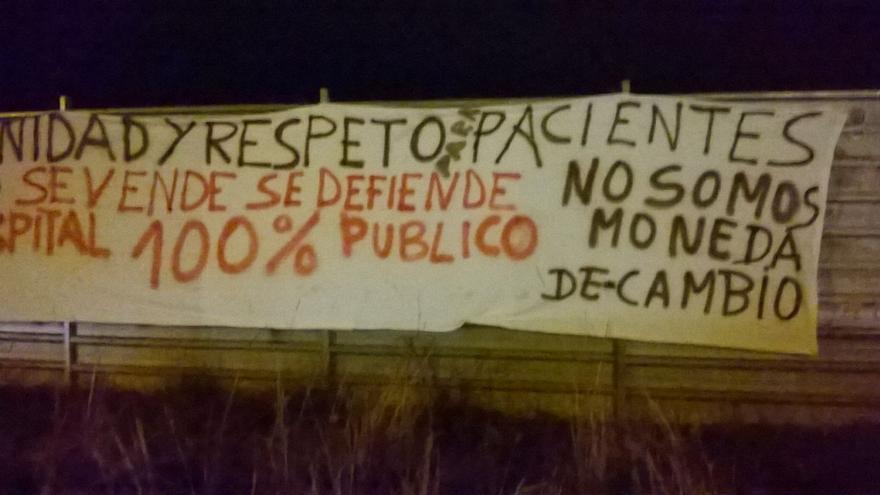Pintadas contra el Gobierno en el hospital de Toledo