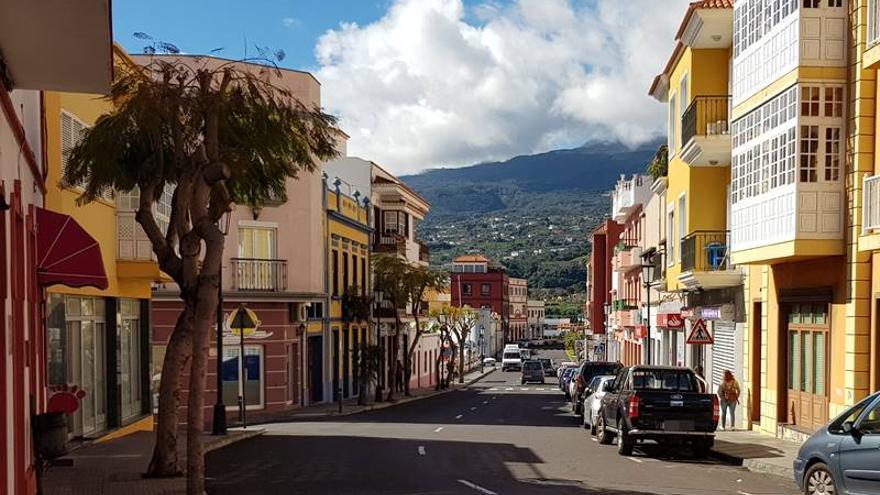 Zona comercial de Breña Alta.