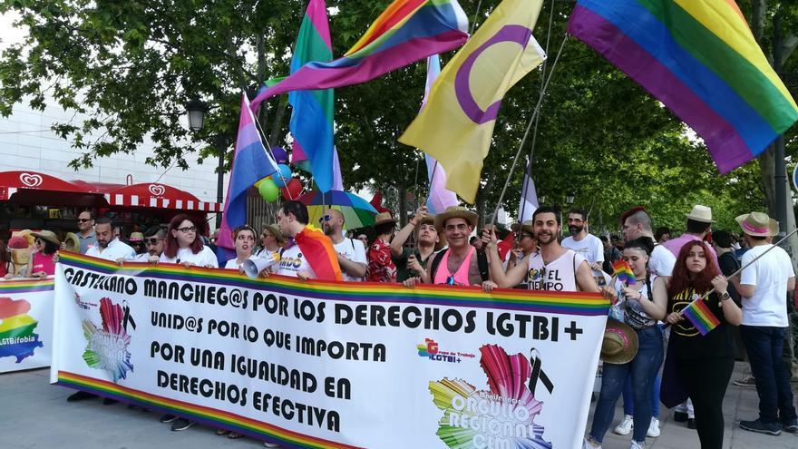 Cabecera de la manifestación en Ciudad Real