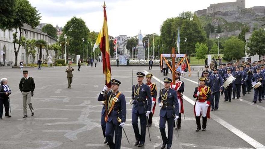 Delegación española en la peregrinación militar a Lourdes