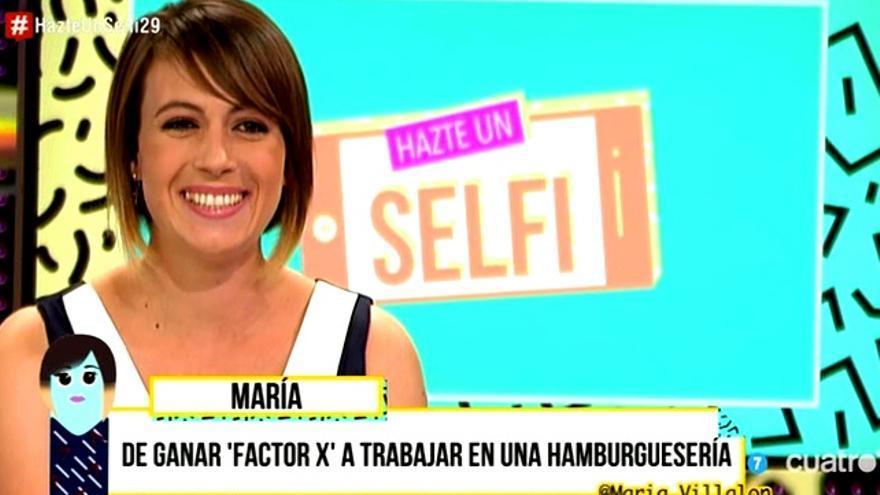 María Villalón, ganadora del 'Factor X' español, reaparece en 'Hazte un selfi'