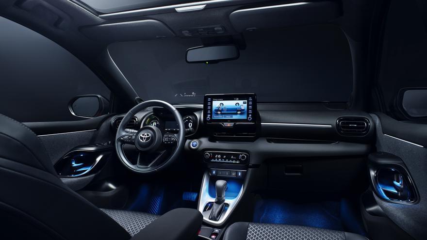 Habitáculo del nuevo Toyota Yaris.