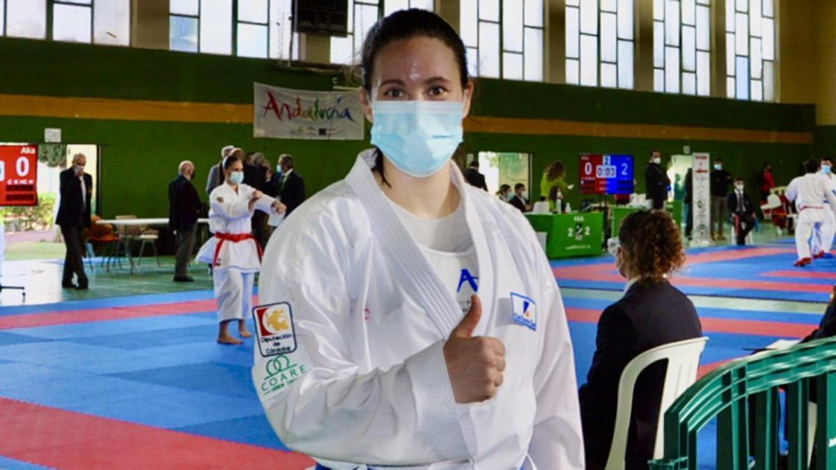 Inma Lopera, en el Campeonato de Andalucía absoluto.