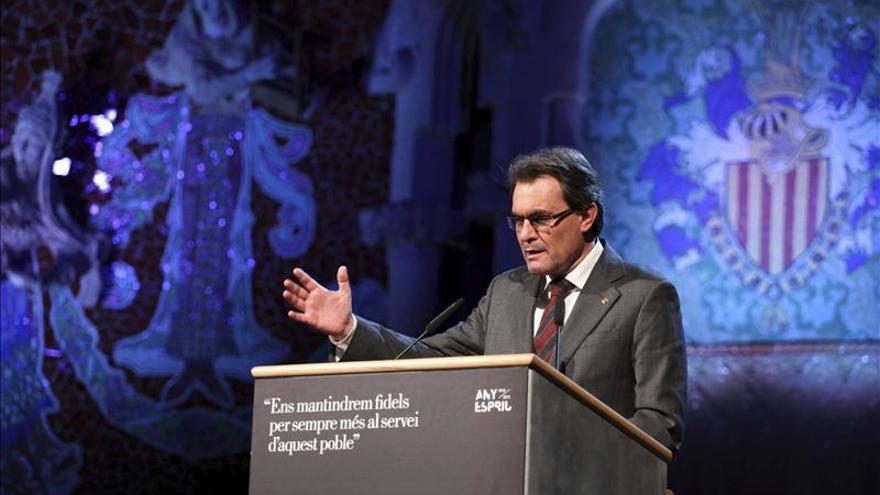 "Mas afirma que Cataluña está en pleno proceso de ""restauración nacional"""