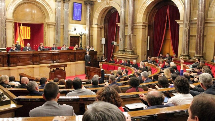 El pleno del Parlament durante una votación en la legislatura pasada