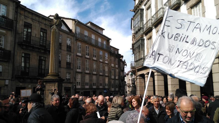 Concentración en Santiago a favor de las pensiones