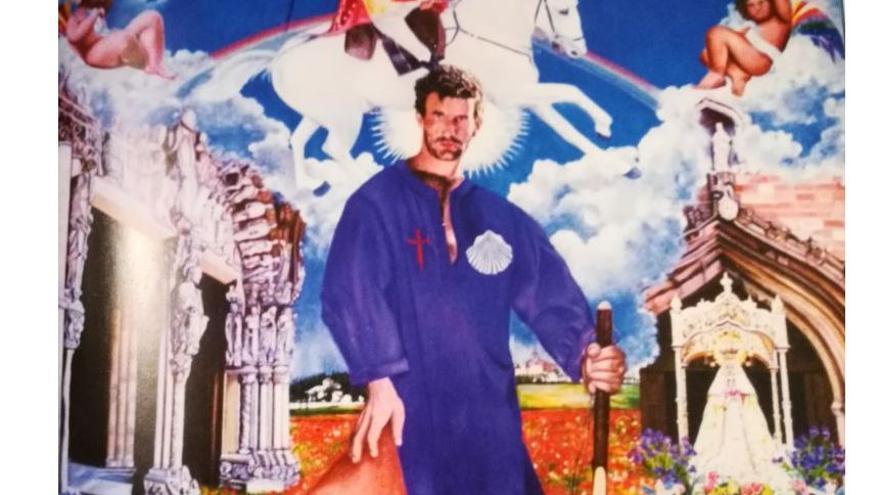 Captura de la web de Cadena SER con la imagen del cuadro de Santiago Apóstol retirado de una igleisa de Ciudad Real