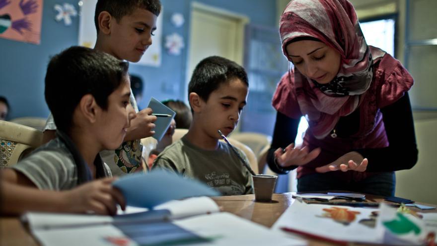 El centro Children of Al Jalil, en el campo de refugiados palestinos del mismo nombre a dos horas de Beirut (Líbano). / Fotografía: Pablo Tosco/ Intermón Oxfam.