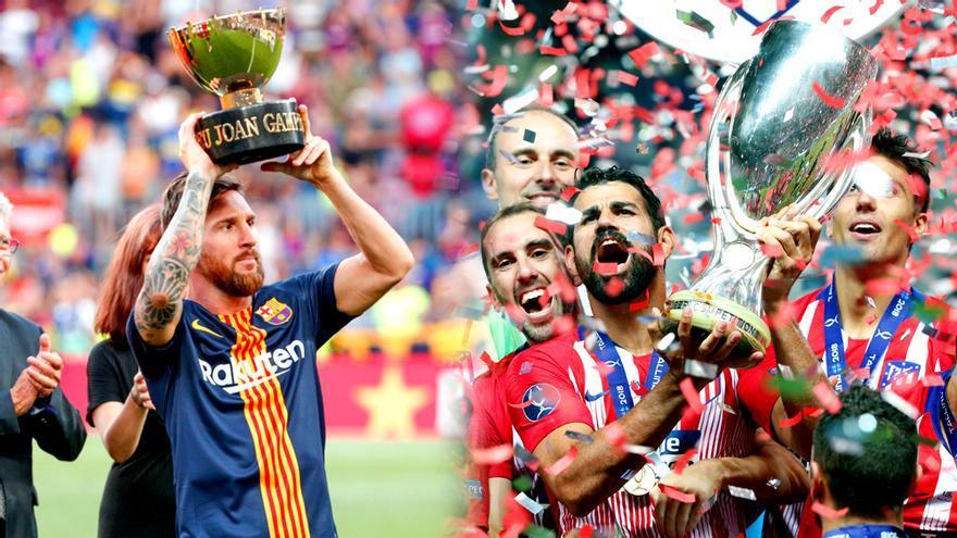 El Gamper del Barcelona y la Supercopa de Europa del Atlético de Madrid